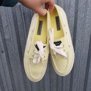 Sperry Topsiders Shoes Yellow Sequins Size 6.5